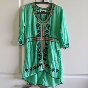 Johnny Was Biya Embroidered Tunic